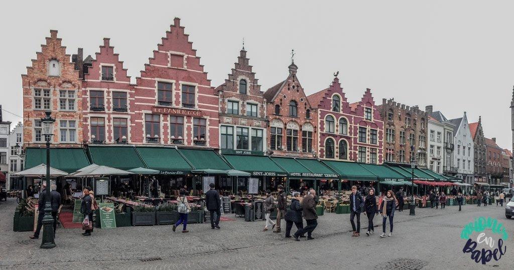 Grote Markt. Qué ver y hacer en Brujas en 2 días