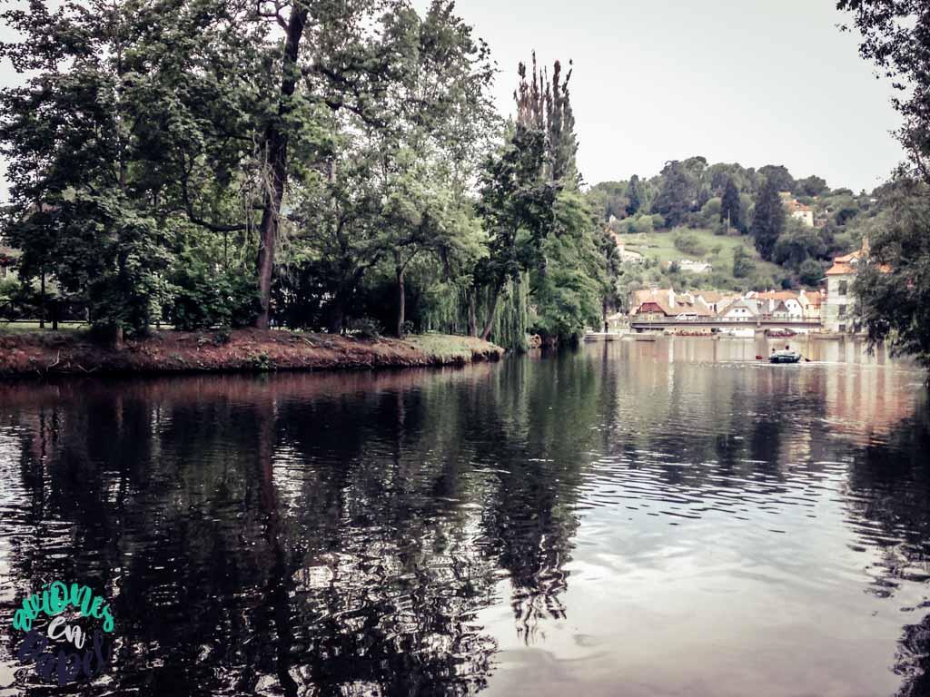 Městský park. Cesky Krumlov