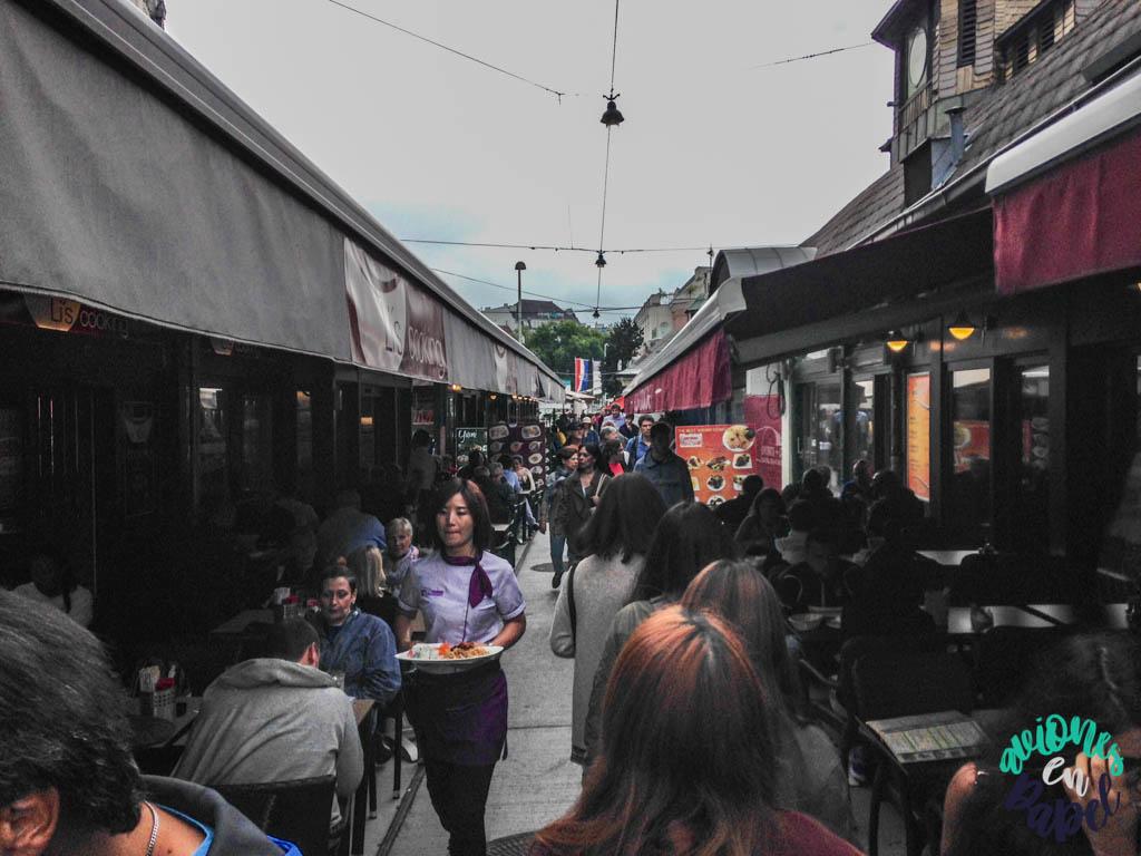Mercado Naschmarkt de Viena