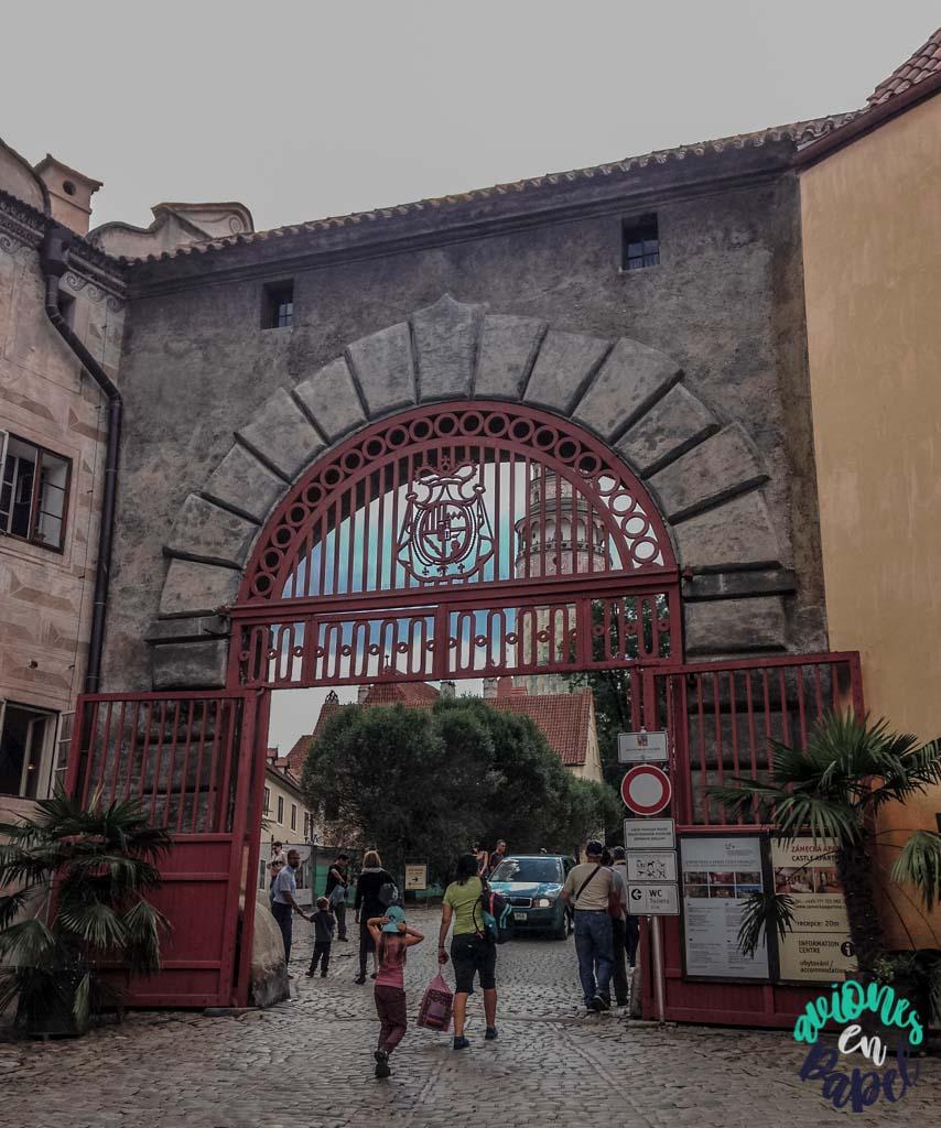 Puerta Roja del castillo. Qué ver y hacer en Cesky Krumlov en 1 o 2 días