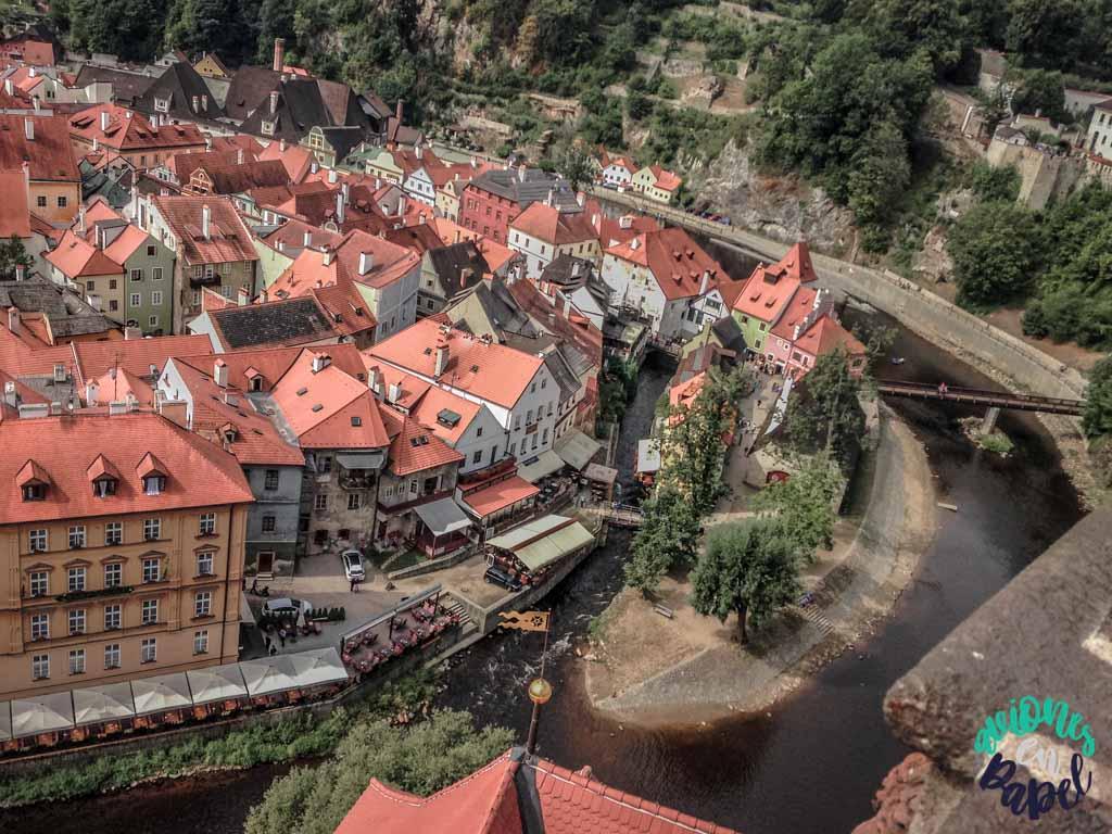 Vistas desde la Torre del castillo. Qué ver y hacer en Cesky Krumlov en 1 o 2 días