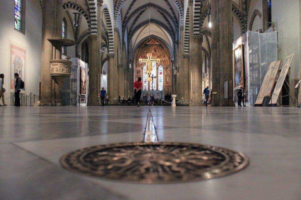Interior de Santa María Novella. Qué ver y hacer en Florencia en 3 días