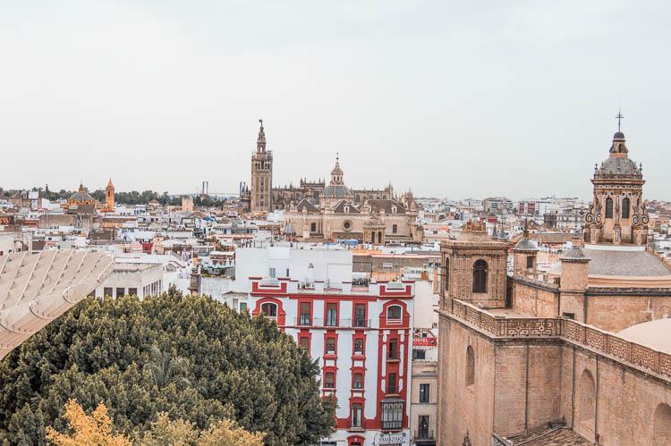 Mirador y vistas desde las Setas de Sevilla