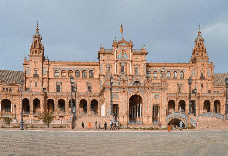 Fachada edificio de la Plaza de España, Sevilla