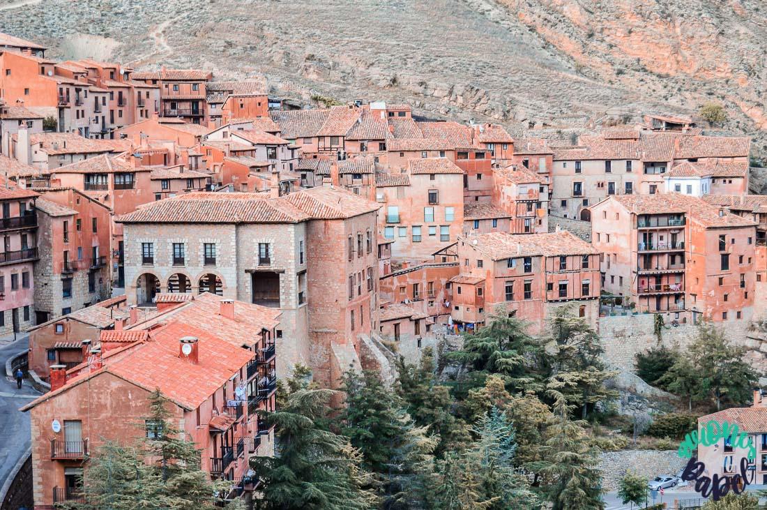 Arquitectura desde el Mirador de la Catedral, Albarracín