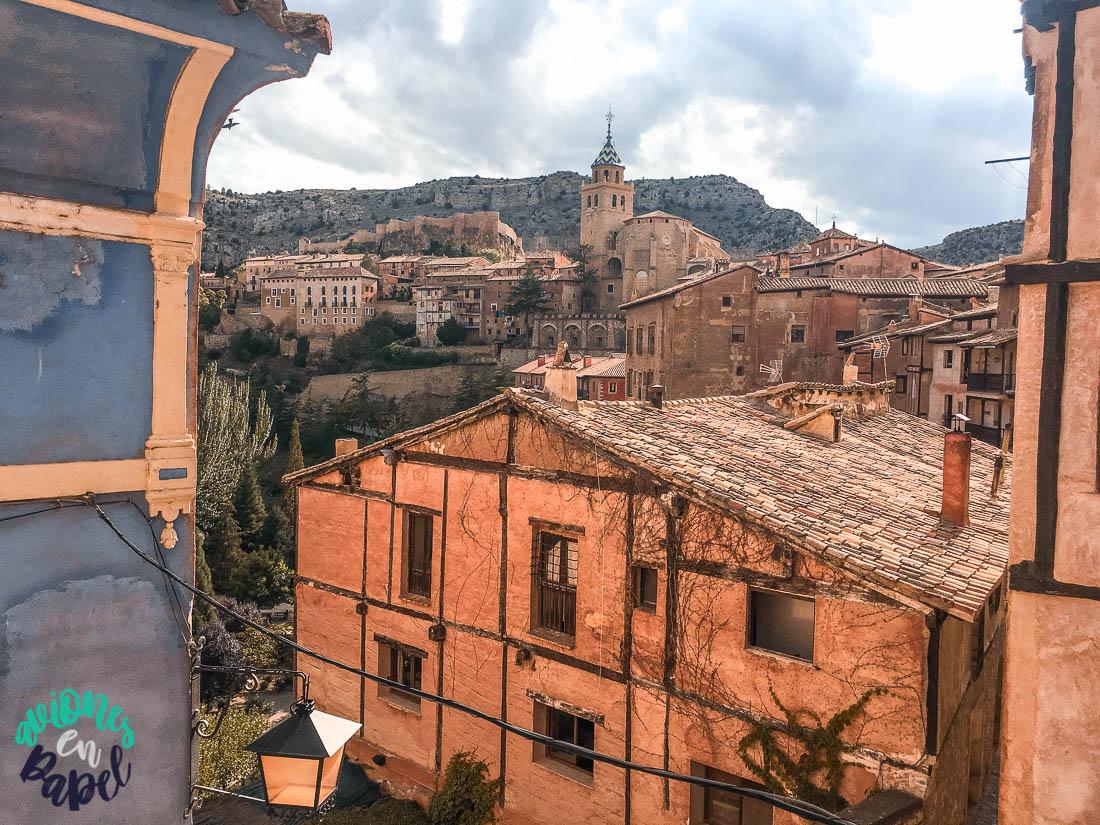 Mirador y vistas desde la Casa Azul, Albarracín