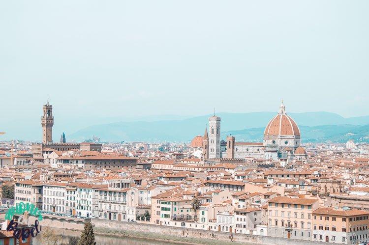 Vistas desde el mirador de la Piazzale Michelangelo