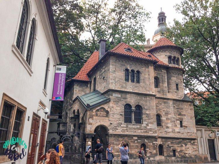 Sinagoga Klausen en Josefov, el barrio judío de Praga