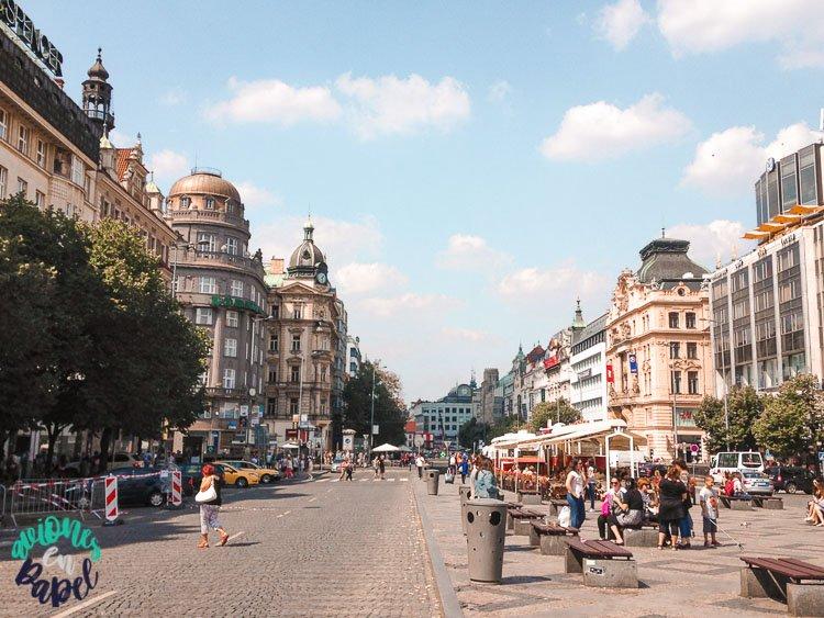 Plaza Wenceslao - Qué ver en Praga en 3 días