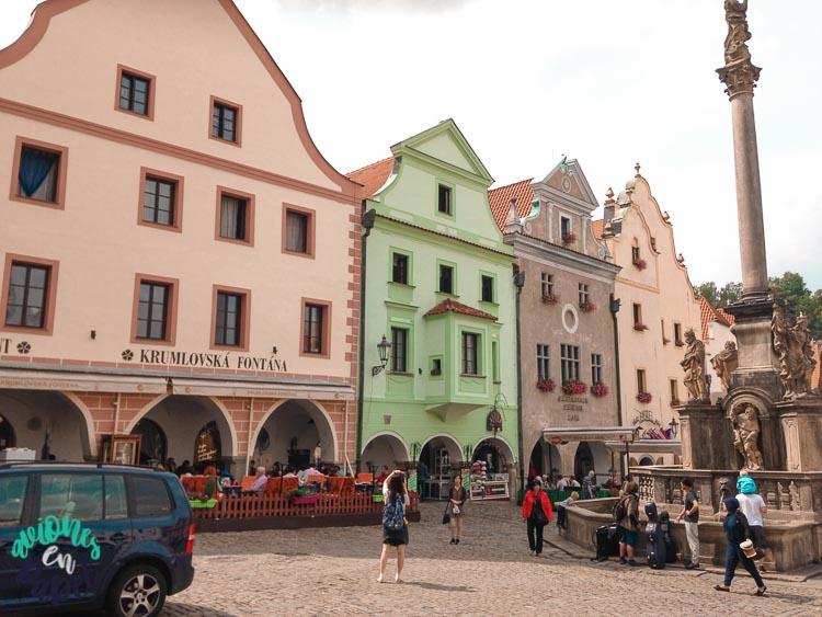 Náměstí Svornosti o Plaza del Ayuntamiento en Cesky Krumlov
