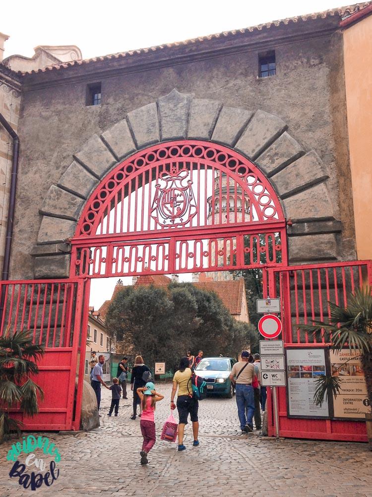 Puerta Roja del Castillo de Cesky Krumlov