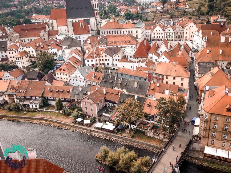 Vistas desde la Torre del Castillo en Cesky Krumlov