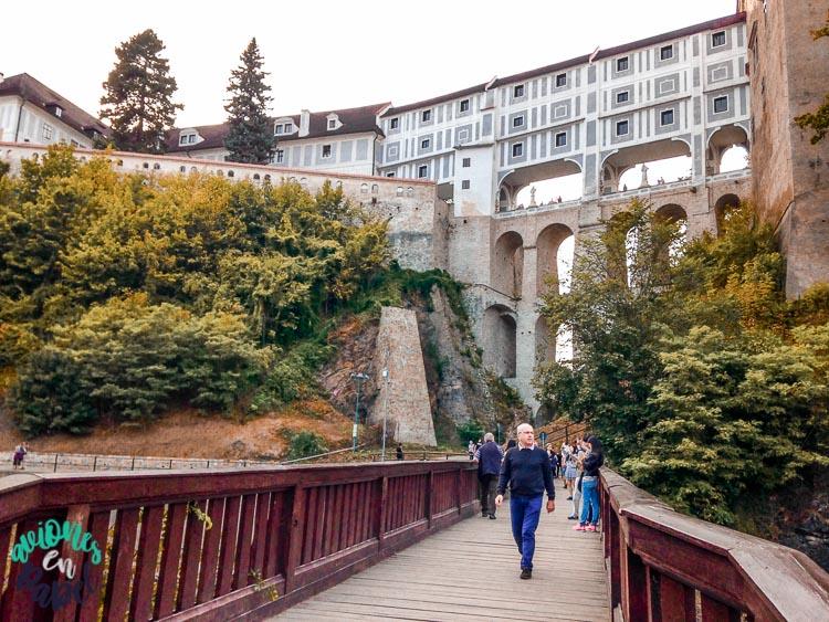 Cloak Bridge o Puente de la Capa del Castillo de Cesky Krumlov