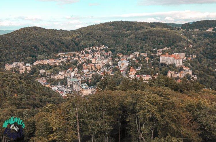 Torre y Mirador de Diana. Las mejores vistas de Karlovy Vary