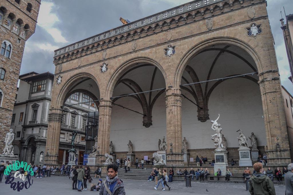 Loggia della Signoria. Qué ver y hacer en Florencia en 3 días