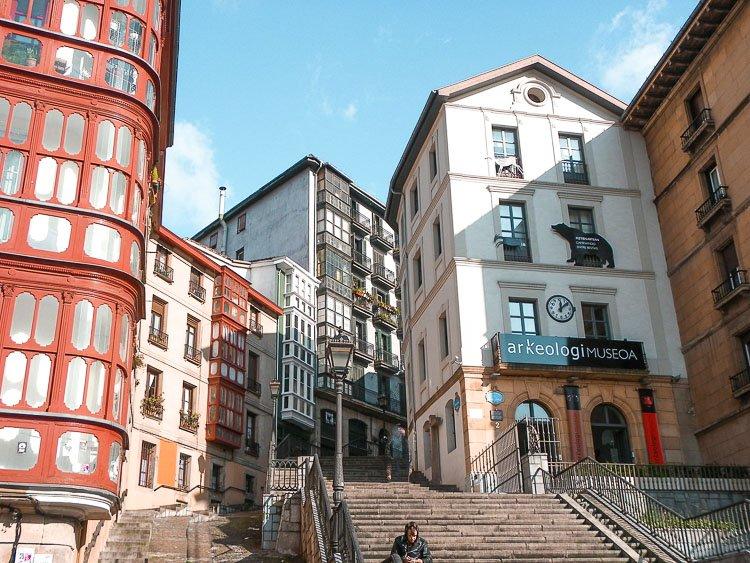Plaza de Miguel de Unamuno, en el casco viejo de Bilbao