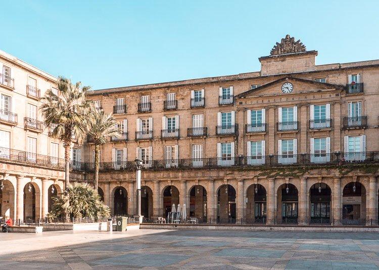Plaza Nueva, en el casco viejo de Bilbao