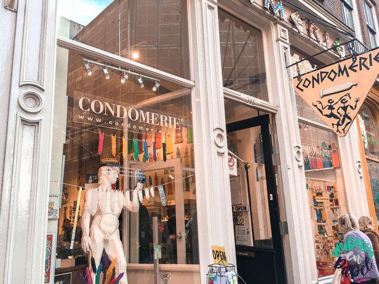 Condomerie en el Barrio Rojo de Ámsterdam