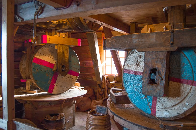 Interior de uno de los molinos de Zaanse Schans
