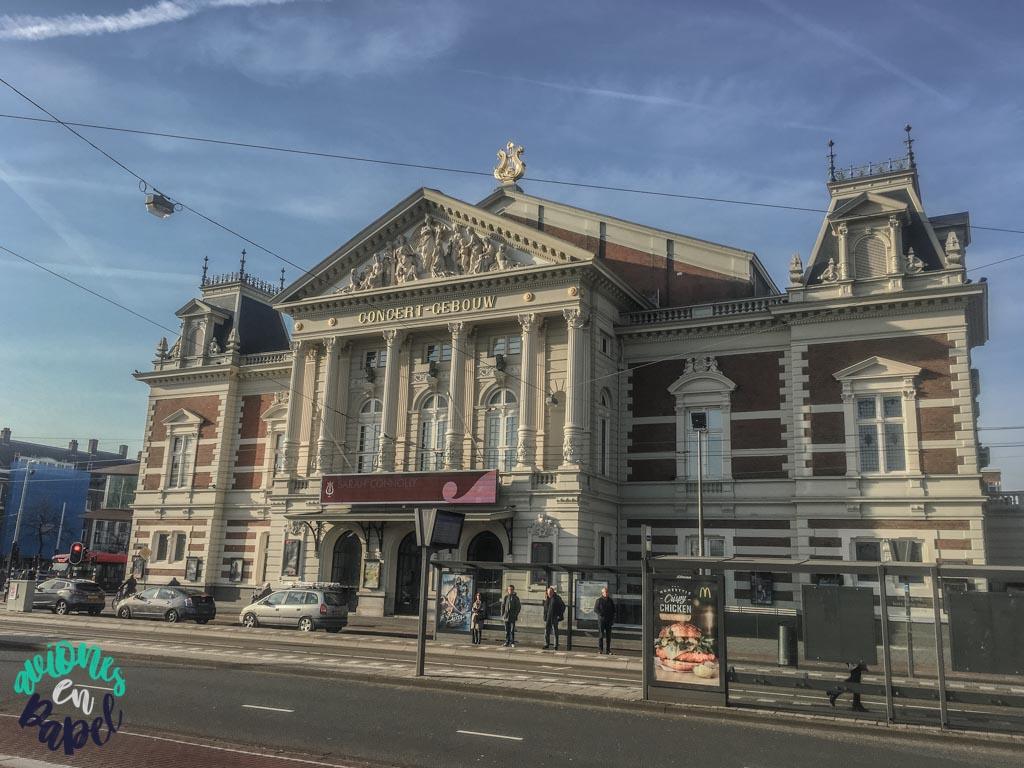Sala de conciertos Concertgebouw. Ámsterdam