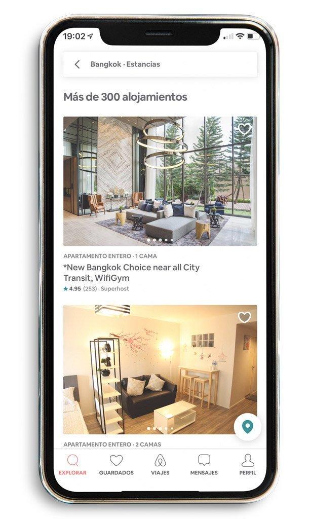 App Airbnb. Preparativos y qué saber antes de viajar a Tailandia