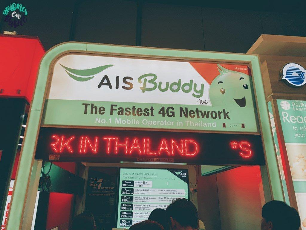 Internet en el móvil. Preparativos y qué saber antes de viajar a Tailandia