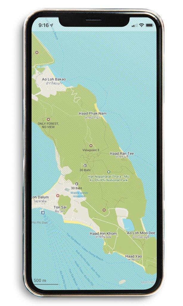 App Mapsme. Preparativos y qué saber antes de viajar a Tailandia