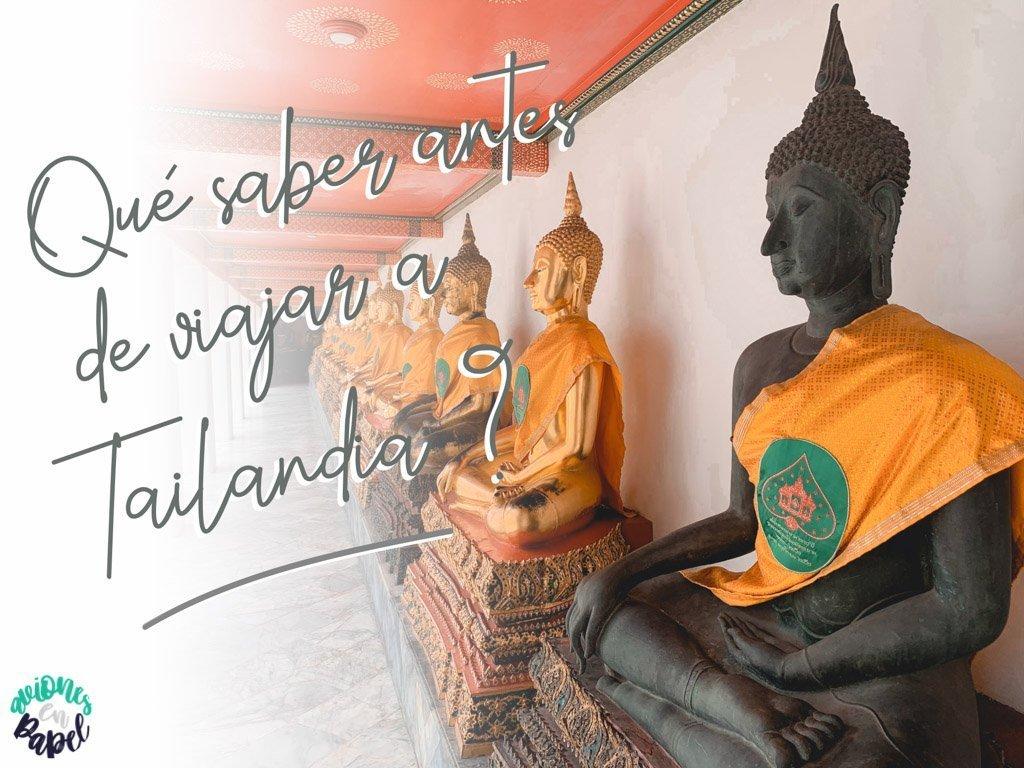 Preparativos para viajar a Tailandia