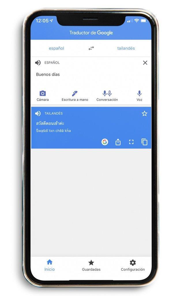 Taductor Google App. Preparativos y qué saber antes de viajar a Tailandia