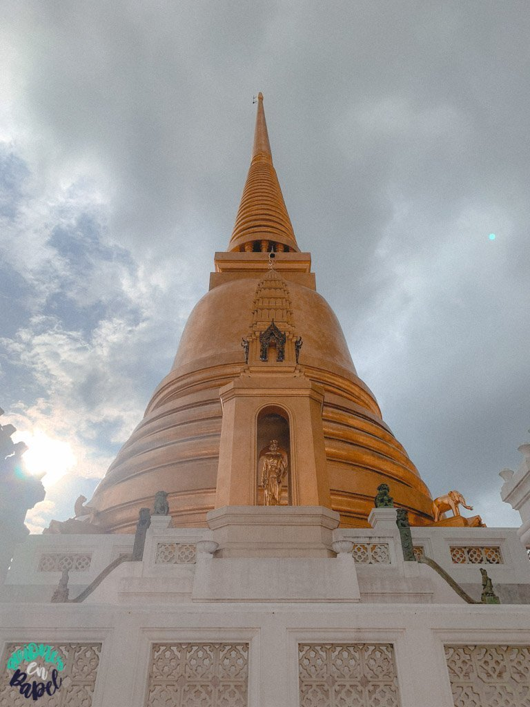 Estupa del Wat Bowonniwet. Qué ver en Bangkok en 3 días