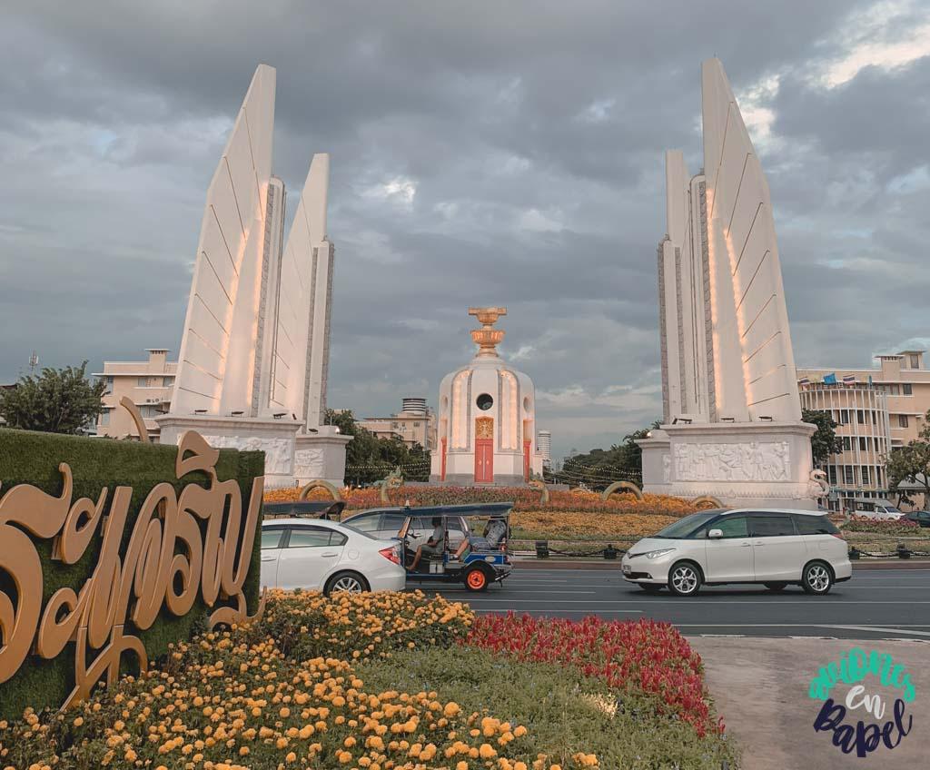 Democracy Monument. Qué ver en Bangkok en 3 días