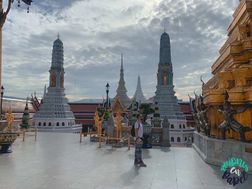 Ocho chedis del Grand Palace. Qué ver en Bangkok en 3 días