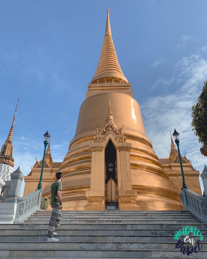 Phra Siratana Chedi del Grand Palace. Qué ver en Bangkok en 3 días