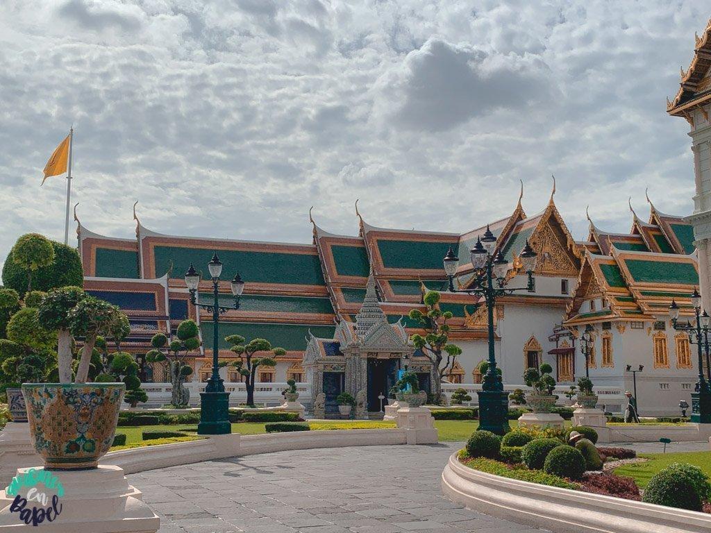 Zona de recepción del Grand Palace. Qué ver en Bangkok en 3 días