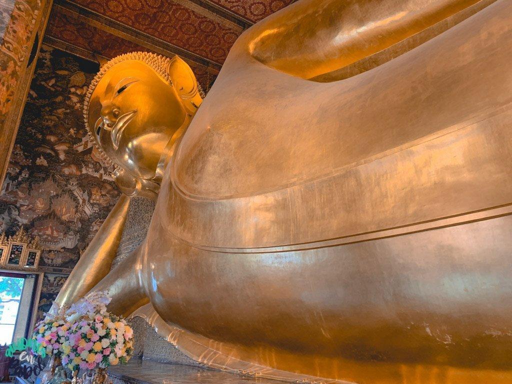 Estatua del buda reclinado. Qué ver en Bangkok en 3 días