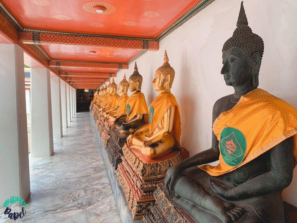 Esculturas de buda en el Wat Pho. Qué ver en Bangkok en 3 días