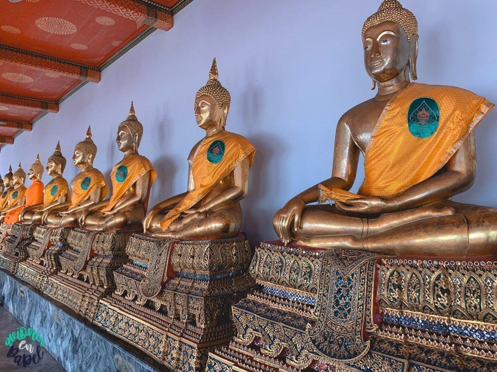 Imagenes de buda en el Wat Pho. Qué ver en Bangkok en 3 días