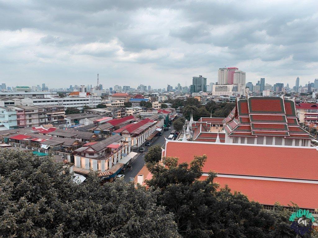 Vistas desde el Monte Dorado. Bangkok