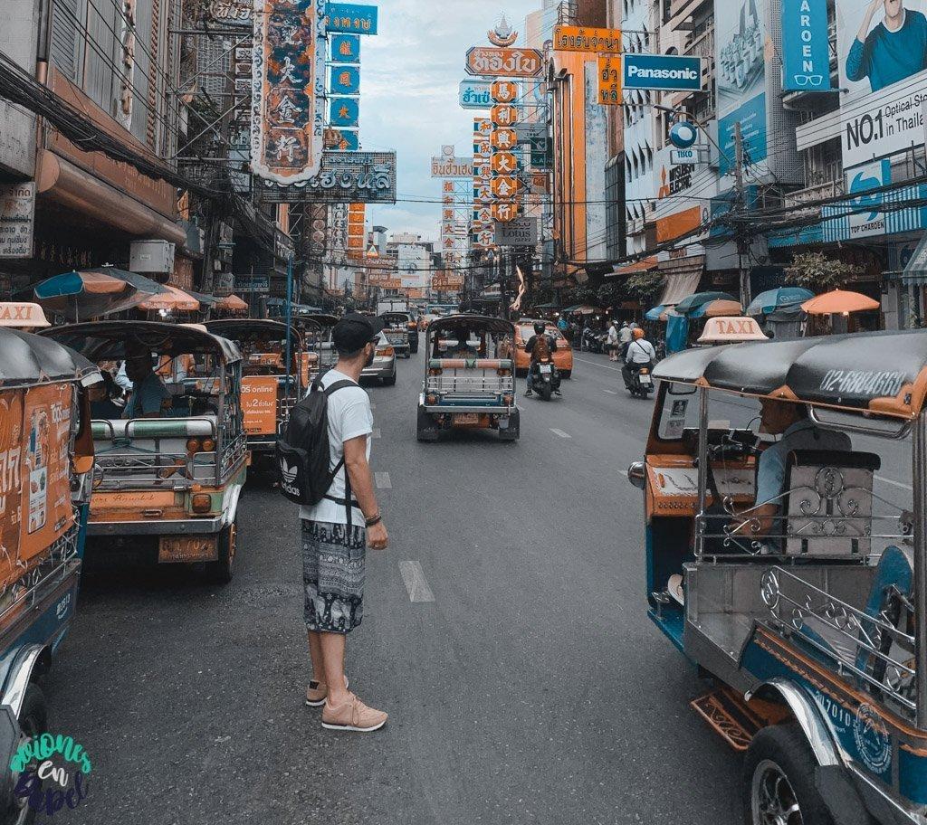 Yaowarat Road en Chinatown. Qué ver en Bangkok en 3 días
