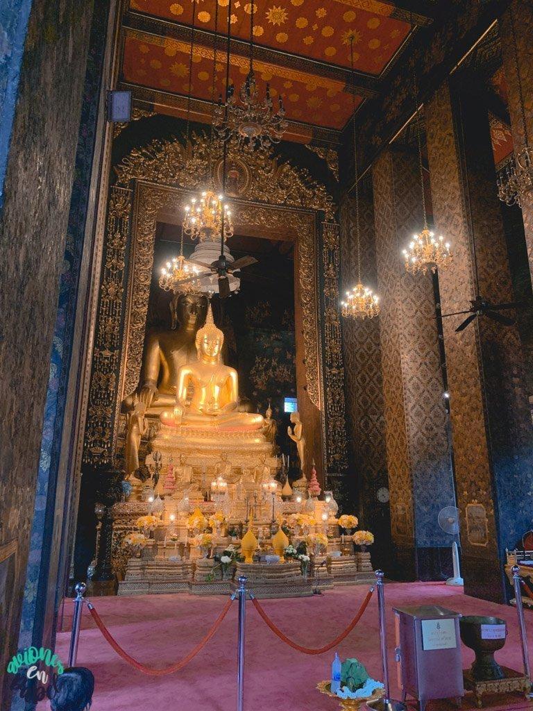 Imagenes de buda del Wat Bowonniwet. Qué ver en Bangkok en 3 días