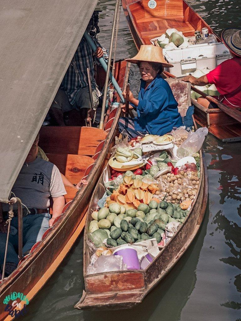 Mercado flotante de Damnoen Saduak. Qué ver en Bangkok en 3 días