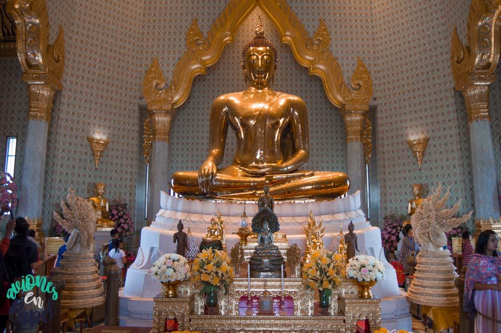Buda de oro del Wat Traimit. Bangkok