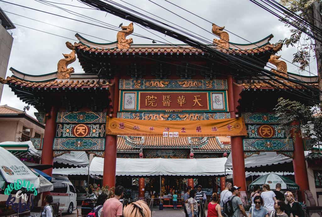 Chinesischer temple o Kuan Yin Shrine. Qué ver en Bangkok en 3 días