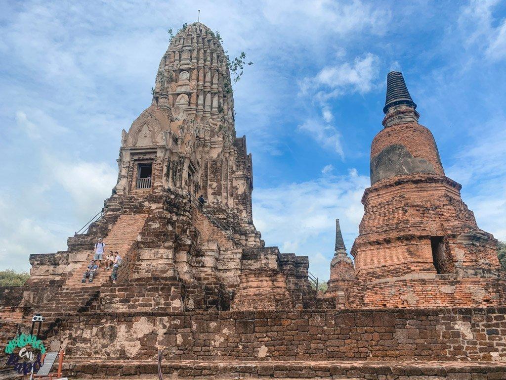 Prang del Wat Ratchaburana. Qué ver y hacer en Ayutthaya en 1 día