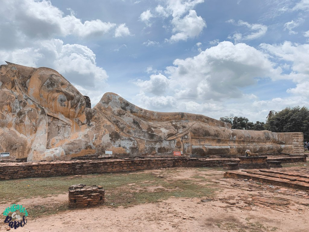 Buda reclinado del Wat Lokayasutharam. Qué ver y hacer en Ayutthaya en 1 día