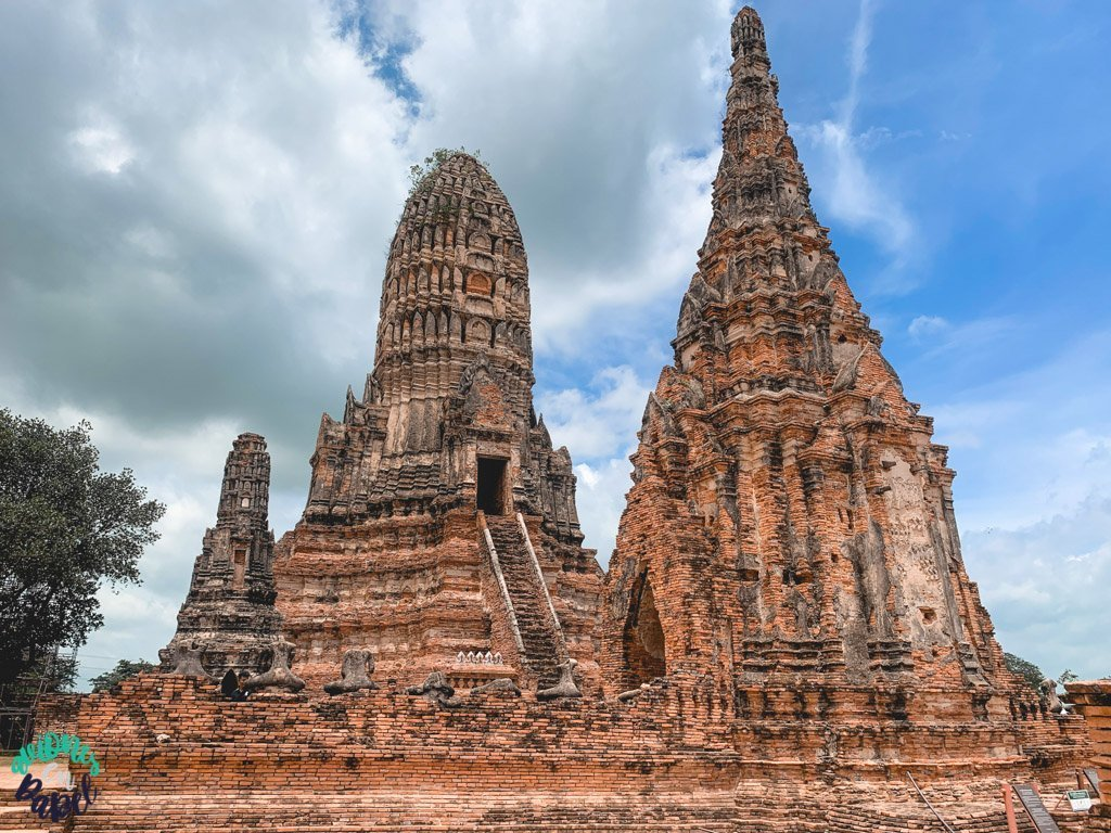 Prangs del Wat Chaiwatthanaram. Qué ver y hacer en Ayutthaya en 1 día