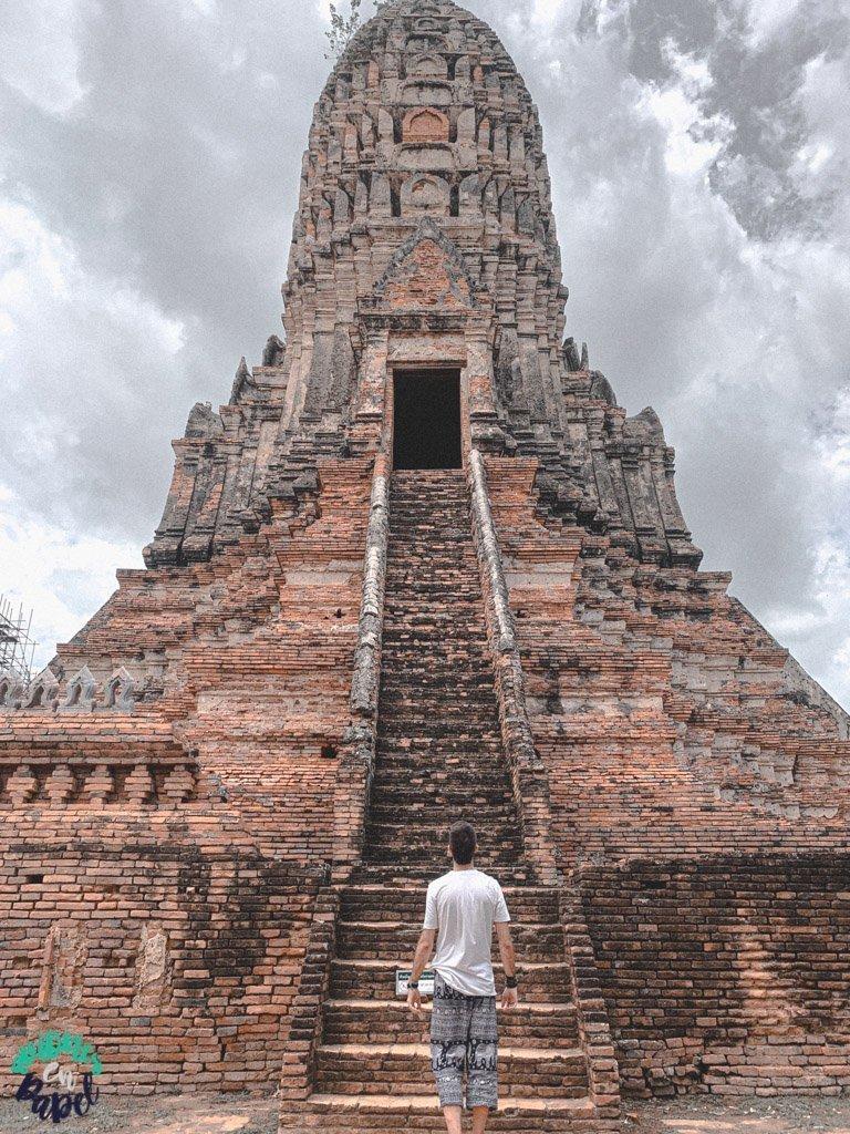 Prang central del Wat Chaiwatthanaram. Ayutthaya