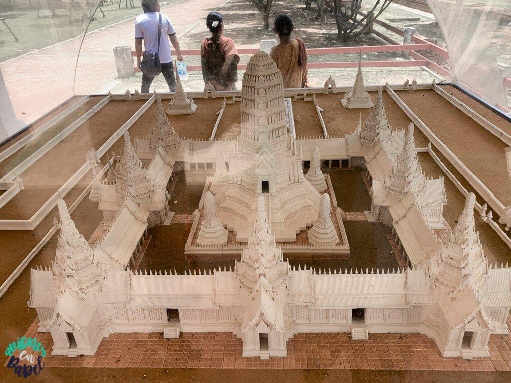 Maqueta del Wat Chaiwatthanaram. Ayutthaya