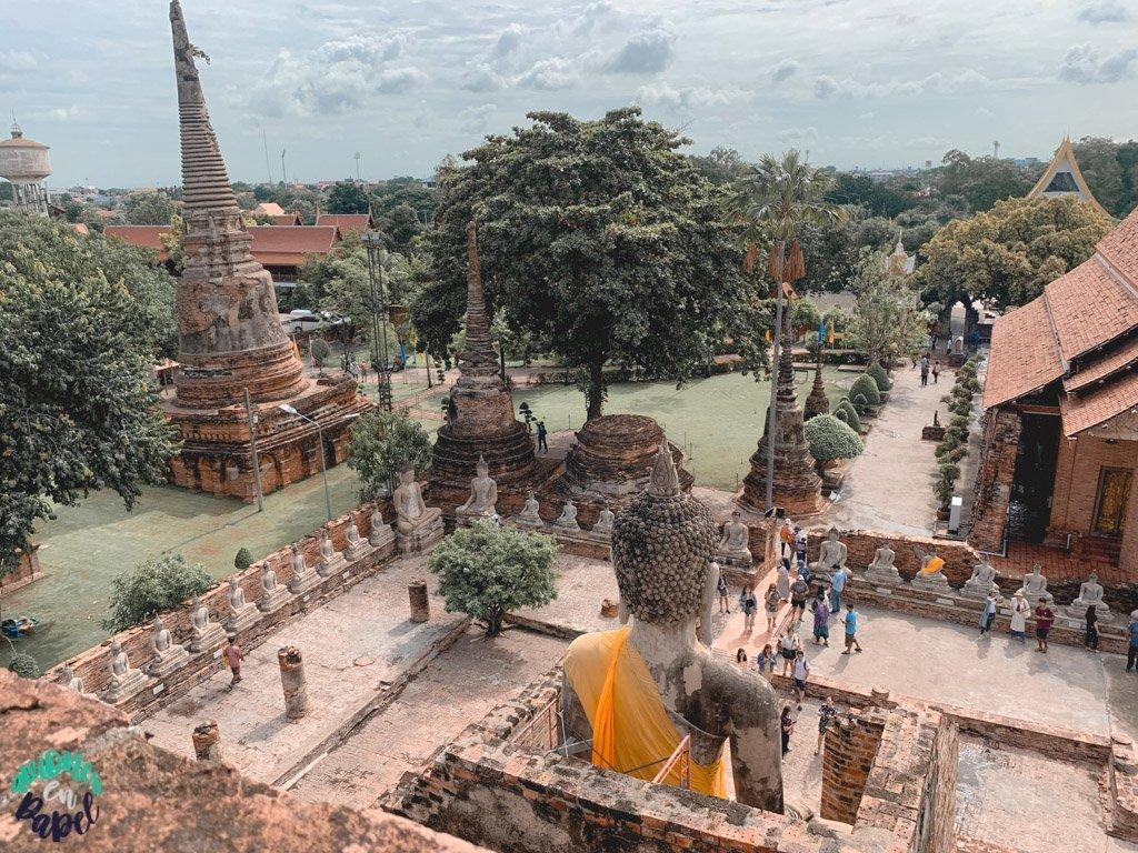 Wat Yai Chai Mongkhol desde lo alto. Ayutthaya