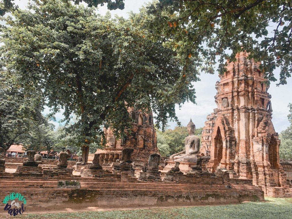 Buda del Wat Mahatat. Qué ver y hacer en Ayutthaya en 1 día
